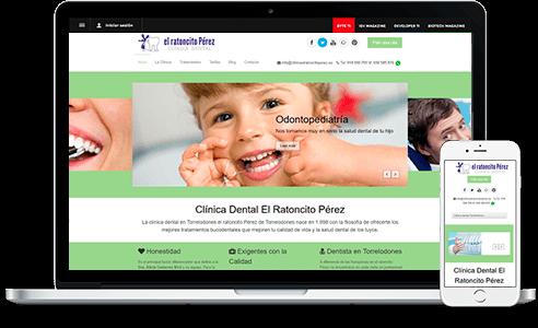 Diseño web para Clinica El Ratoncito Pérez en Torrelodones