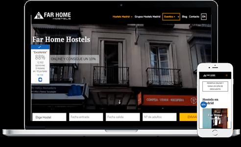 Diseño web para Hostel FarHome