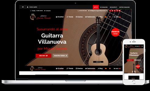 Diseño web para Guitarras Garrido Pozuelo en Madrid