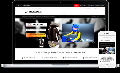 Diseño web para empresa Chalecos Airbag