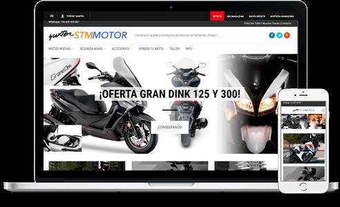 Diseño web para Stmmotor
