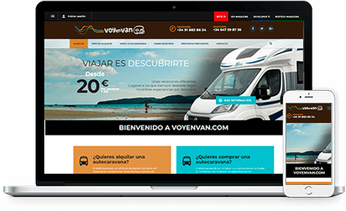 Diseño web para Voyenvan